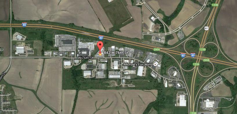 Map to Self-Storage facility in Davenport, Iowa.