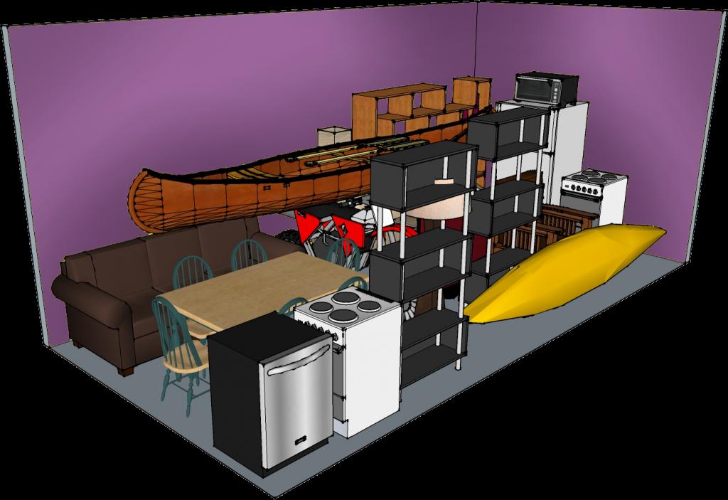 10' width x 20' depth x 8' Modular storage unit at QC-Storage in Davenport, Iowa. Quad Cities, IL