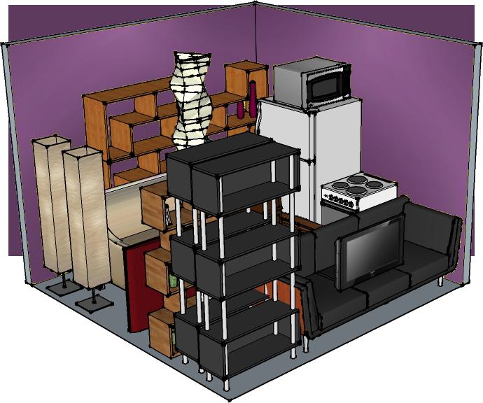 10' width x 10' depth x 8' Modular storage unit at QC-Storage in Davenport, Iowa. Quad Cities, IL