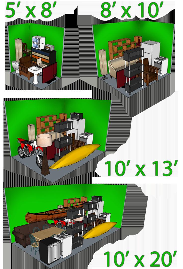 mini self storage storage rates price in davenport iowa. Black Bedroom Furniture Sets. Home Design Ideas