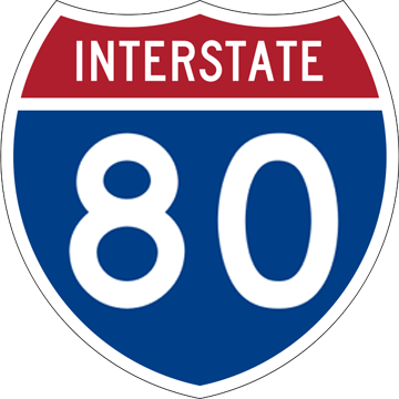 i80 road sign
