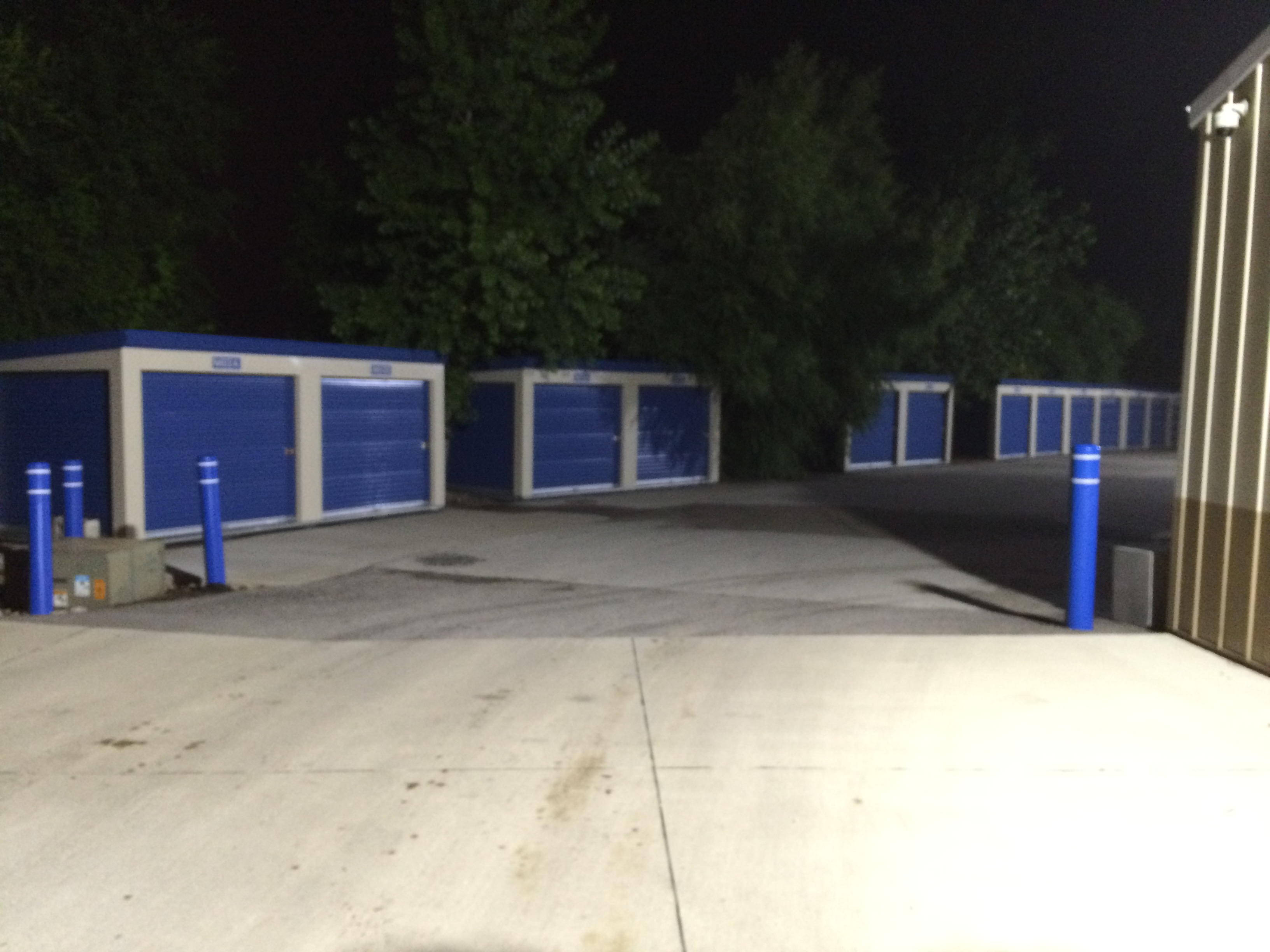 Perimeter Led Flood Lighting At 24 Hour Storage In Davenport Iowa
